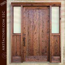 Solid Wooden Exterior Doors Solid Wood Exterior Door Chiseled Front Door