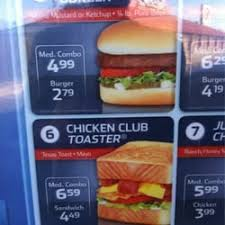 Sonic Chicken Club Toaster Sonic Drive In Fast Food 1106 E Main St Fredericksburg Tx