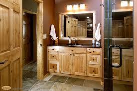 slate bathroom ideas rustic hickory cabinets cabinets rustic hickory appears again