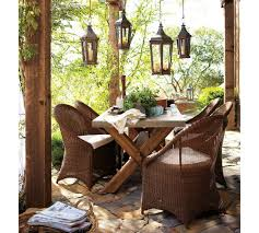 Rustic Outdoor Furniture by Furniture Interesting Outdoor Living Room Decoration Using Light