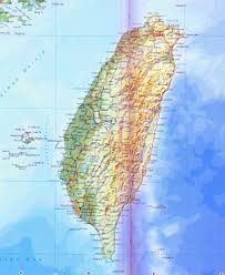 China Topographic Map by Large Detailed Road And Topographical Map Of Taiwan Taiwan Large