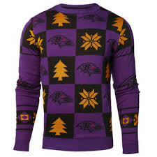 baltimore ravens ugly sweaters light up sweaters holiday