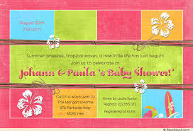 coed baby shower co ed baby shower invitation catch luau wave pink