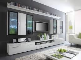 interior design wonderful modern wall units with white fur rug