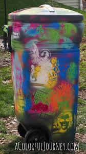 How To Graffiti With Spray Paint - trashy graffiti stenciling trash can that is