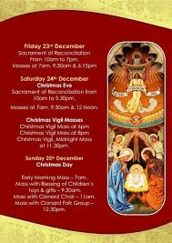 christmas confessions u0026 mass times at clonard monastery