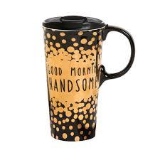 travel coffee mugs images Cypress home good morning handsome ceramic travel coffee mug 17 jpg