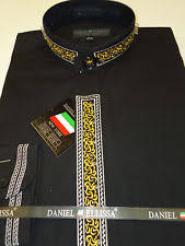 banded collarless dress shirts for men ebay