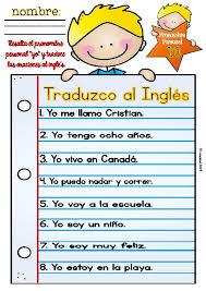 i translate spanish sentences yo traduzco oraciones freebie