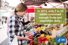 only 1 in 10 adults get enough fruits or vegetables dnpao cdc