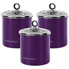 Purple Kitchen Canisters by 3 Piece Accents 1 7l Large Plum Kitchen Storage Canister Tea Sugar