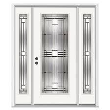 Home Depot Jeld Wen Interior Doors Jeld Wen 62 In X 80 In Full Lite Cordova Primed Steel Prehung