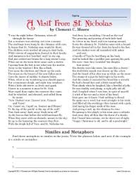 a visit from st nicholas high christmas worksheet