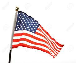 The Flag Of Usa Flag Of Usa Over White Background Lizenzfreie Fotos Bilder Und