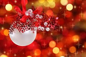 red and white christmas tree decorations stock photo darya