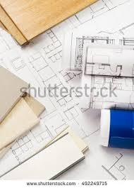 architects desk on white background living stock photo 306490151