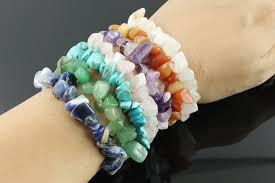 rose stone bracelet images Gravel natural stone bracelets 9 color crystal bracelet bangles jpg