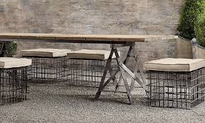 awesome retro style outdoor furniture and delighful industrial