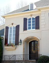 Shutters For Homes Exterior - flat panel shutters with bead trim featuring a 20 40 40 split