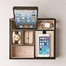 Desk With Charging Station Mele U0026 Co Rory Charging Station Doubles As Desk Organizer Gadgetsin