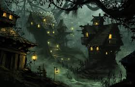 dark village wallpaper village of scale by chriskuhlmann on deviantart