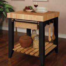 Stainless Steel Kitchen Island With Butcher Block Top Mesmerizing Stainless Steel Kitchen Island With Butcher Block Top