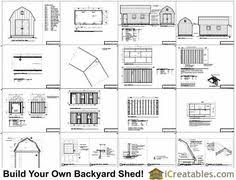 Barn Plans by 10 X 20 Gambrel Shed Plans Goehs Playroom Shed Pinterest