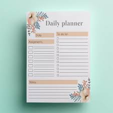daily planner template pdf printable daily planner template instant download day zoom