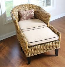 Wicker Rocking Chair Pier One Wicker Chair And Ottoman By Pier 1 Imports Ebth