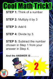 cool math trick where your answer is always 2 mrs j u0027s resource