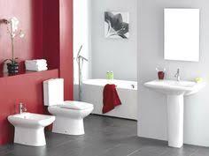 black red bathroom interior design combination color master
