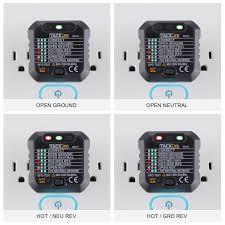 amazon com tacklife est01 advanced gfci outlet tester power