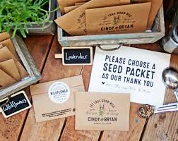 seed packets wedding favors seed packet wedding favors sunflowers personalized bag