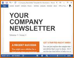 newsletter templates free word sample company newsletter template