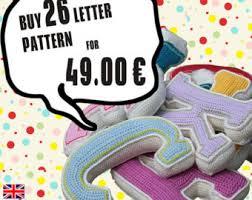 3d letter crochet pattern pdf pattern for one letter pdf