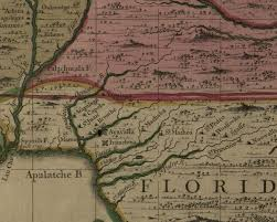 Map Of Florida And Georgia by Apalachee Massacre The English Invasion Of Florida The Florida
