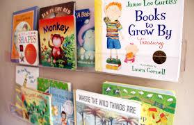 Wall Mounted Bookcase Shelves Girls U0027 Room Acrylic Bookshelves U0026 A Library Wall Pepper Design Blog