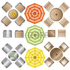 Free Designs For Outdoor Furniture by Outdoor Furniture Top View Set 1 For Landscape Design Vector