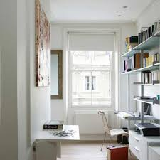 white wall color with modern floating shelves for adorable