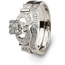 wedding ring set for claddagh wedding ring sl 14l69wd