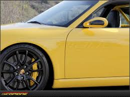 yellow porsche side view scopione com porsche 911 dry carbon fiber side mirror side cover