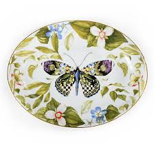 butterfly serving platter mackenzie childs thistle bee serving platter