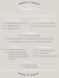 wedding ceremony timeline sle wedding timeline 5 tips for organized brides the