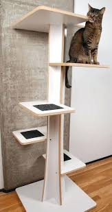modern scratching post natural cat trees modern cat tree with dual beds made of natural