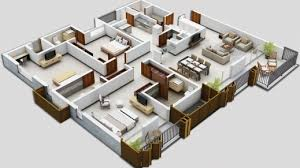 floor plan 3d house building design 3d 4 bedroom house plans house floor plans