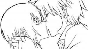 how to sketch an anime kiss step by step anime people anime