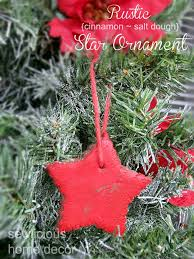 easy rustic cinnamon salt dough tree ornaments