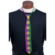 mardi gras apparel beaded necktie mardi gras harlequin mardigrasoutlet