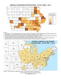 Emerald Ash Borer Map Iowa Legislature Factbook U0026 Map Of The Week