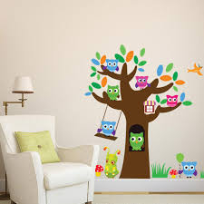 Owl Wall Decor by Owls Tree Wall Sticker Decal Lovely Sugar Baby Wall Mural